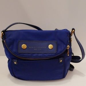 Marc Jacob's blue nylon crossbody bag